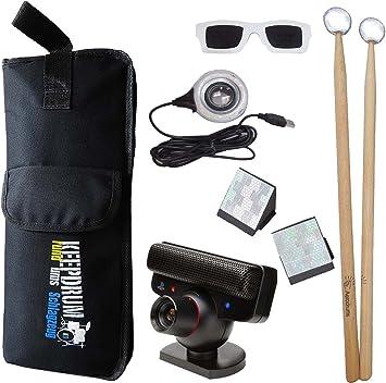Aero Air Paire de Ming Percussion En Batterie électronique avec PS3 Caméra keepdrum stickbag SB de 01