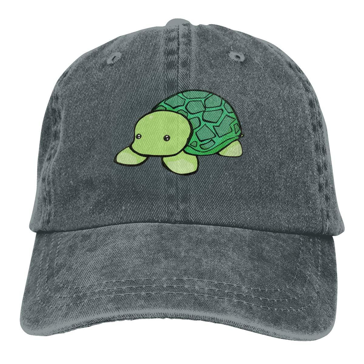 Turtle Smiling Cotton Denim Adult Unisex Jeans Cap Adjustable Hat Back Off Im Retired