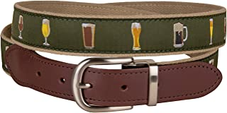 product image for Ales & Lagers Cut-to-Size Leather Tab Belt by Belted Cow Company - Made in Maine