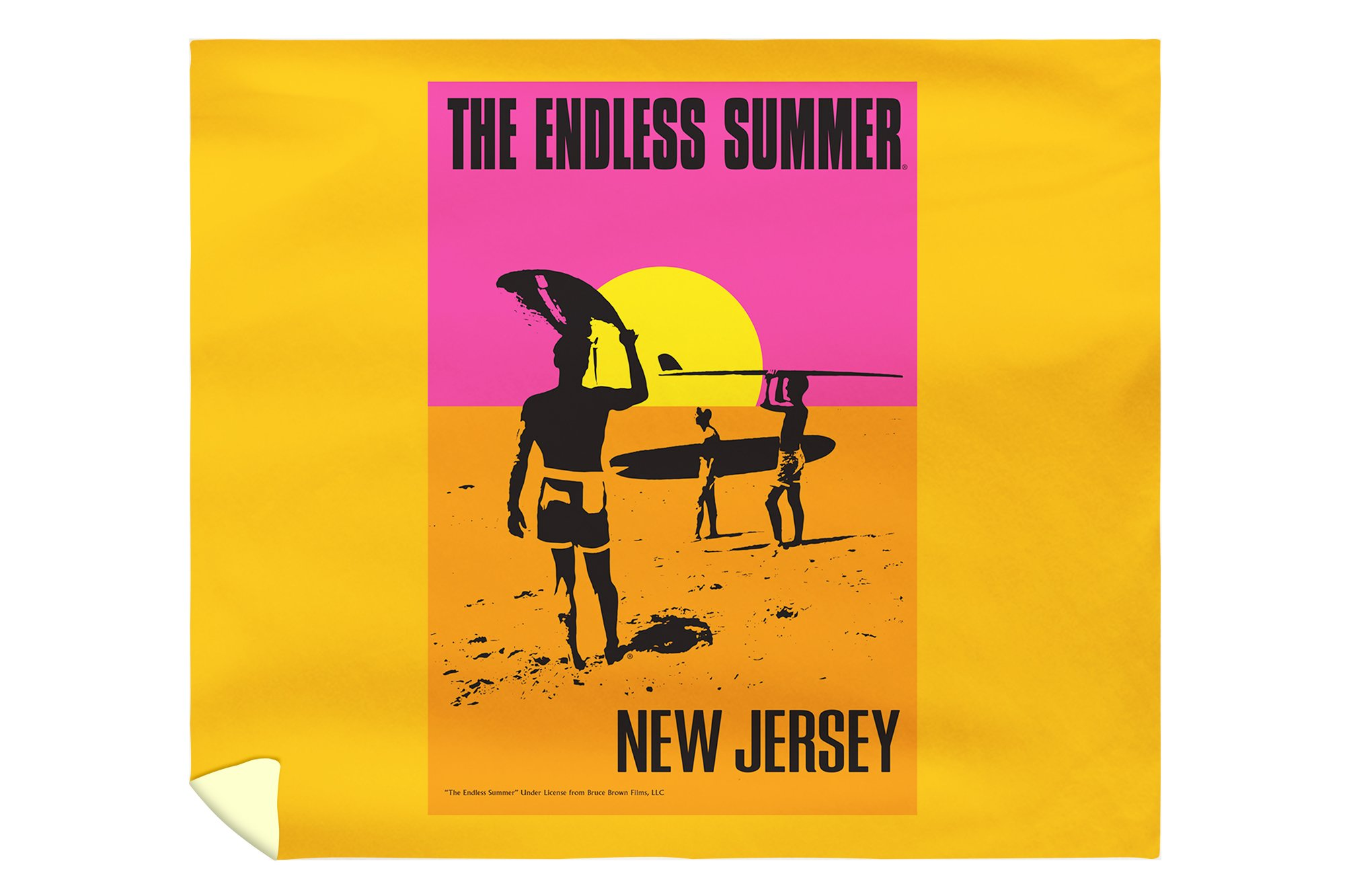 New Jersey - The Endless Summer - Original Movie Poster (88x104 King Microfiber Duvet Cover)