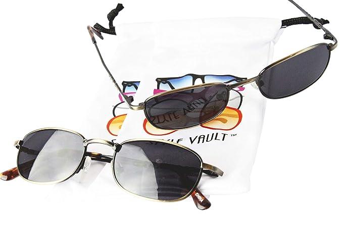 Amazon.com: V3024 - Gafas de sol ovaladas redondas de metal ...