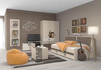Jugendzimmer komplett weiß  Jugendzimmer Komplett - Set A Matthias, 8-teilig, Farbe: Creme ...