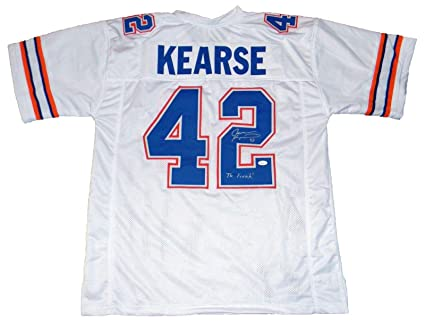 Jevon Kearse Signed Jersey - Florida Gators  42 White W The Freak -  Autographed College 463229cac
