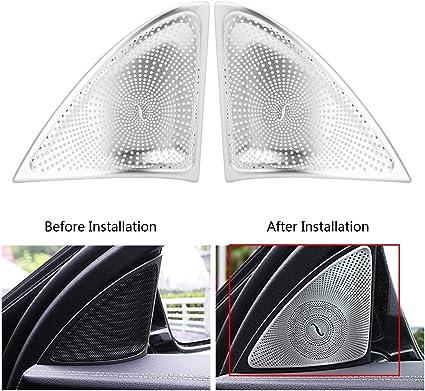 T/ür Hocht/öner Dekoration Abdeckung f/ür W205 15-17 Qii lu 2 Auto-styling T/ür Stereo Audio Lautsprecher Abdeckung Trim