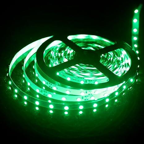 Generic 12 V LED Franja Flexible, luces LED, verde, 300 unidades 3528 LEDs
