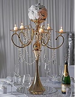 Amazon efavormart 32 tall exotic designer crystal garland efavormart 275 tall gold metal candelabra chandelier votive candle holder wedding centerpiece with acrylic aloadofball Gallery