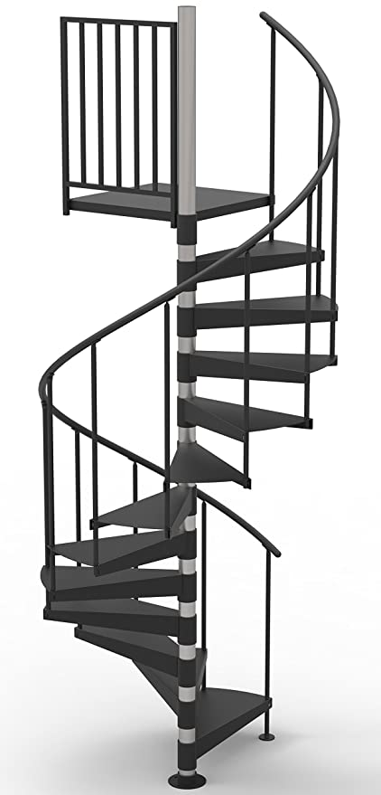 42u0026quot; Diameter Non Code Spiral Stair Kit   Primed Steel (85u0026quot;