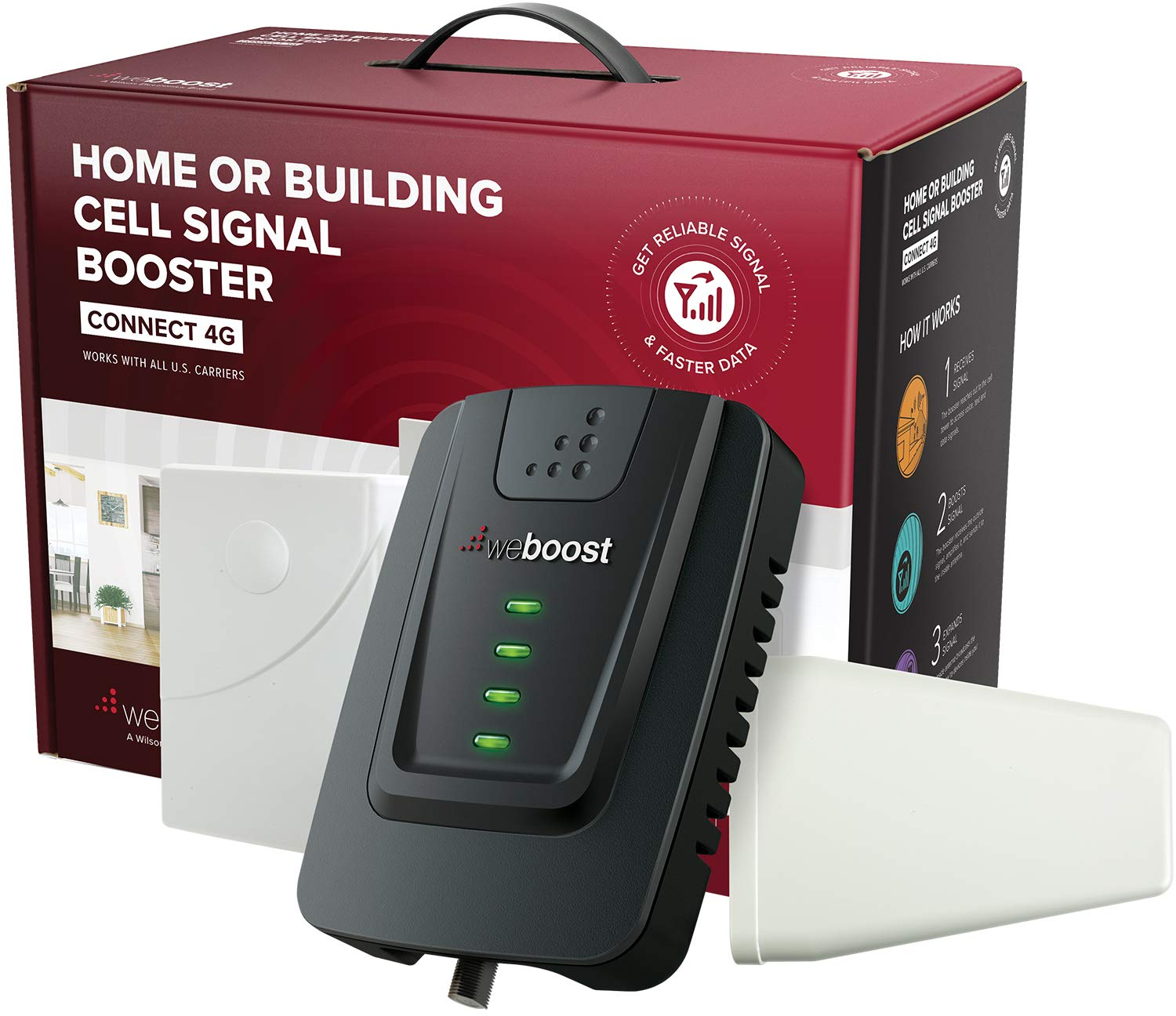 weBoost Connect 4G (470103) Indoor Cell Phone Signal Booster for Home and Office - Verizon, AT&T, T-Mobile, Sprint - Supports 5,000 Square Foot Area by weBoost