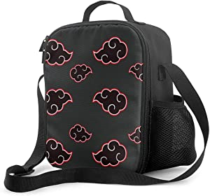 Insulated Lunch Bag Japanese Anime Hot Comic Cartoon Naruto Chic Reusable Lunch Box With Shoulder Strap Lightweight Work Lunch Pail Cute Lunch Container For School,Picnic,Travel