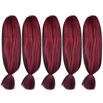 Hair Extensions & Wigs Xccoco Kanekalon Hair Synthetic Crochet Braids Ombre Jumbo Braiding Hair 2 3 4 Tone Color Hair Extensions Skilful Manufacture