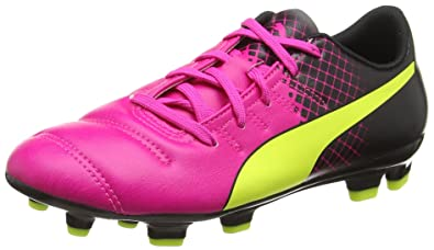 Puma evoPOWER 4.3 Tricks FG Jr, Chaussures de football mixte enfant, Rose ( Pink