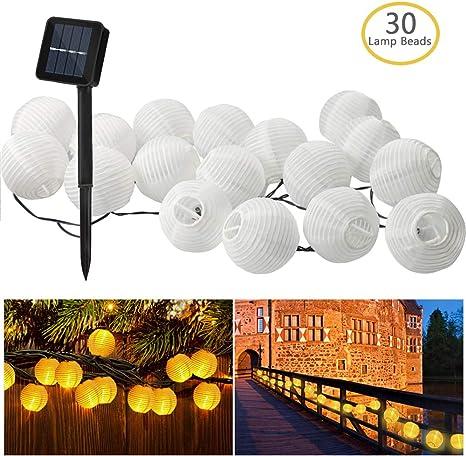 Bawoo Solar Giardino Lanterne Impermeabile 30 per Esterni Solare Stringa Luci per Party