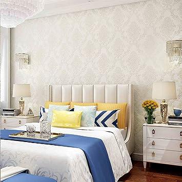 KINLO Mustertapete hell weiss 10M Fernsehhintergrund Schlafzimmer ...