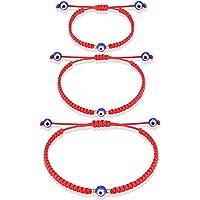 UNGENT THEM Evil Eye Bracelet Red String Bracelets Kabbalah Protection Mal De Ojo Mommy and Me Matching Adjustable…