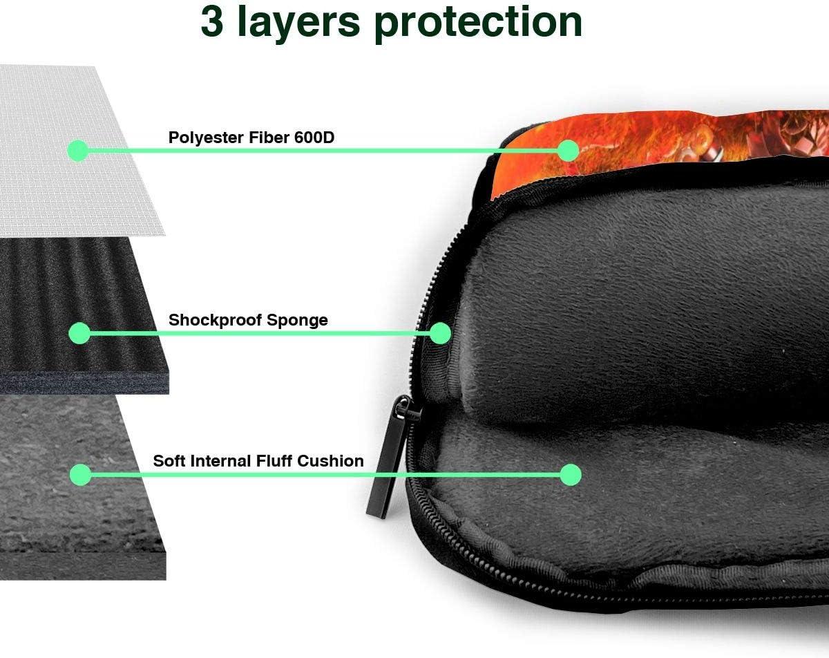 Laptop Shoulder Bags Polyester Messenger Carrying Briefcase Sleeve with Adjustable Depth at Bottom 14 inch Plants Zombies Laptop Bag Laptop Messenger Bag