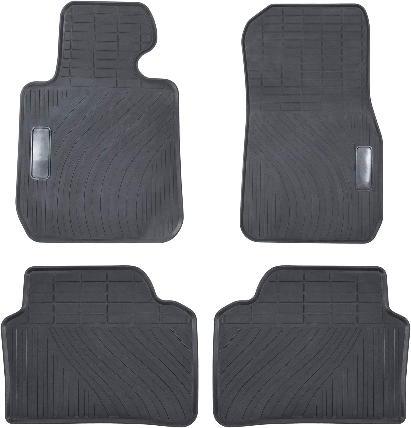 Black 4PCS F80 M3 Heavy Duty Rubber Front+Rear Car Liner Carpet All Weather Custom Fit Waterproof Odorless Floor Mat for BMW 3 Series F30 F31 F32 F33 F36 320i 328i 335i 2012-2018 /& 2015