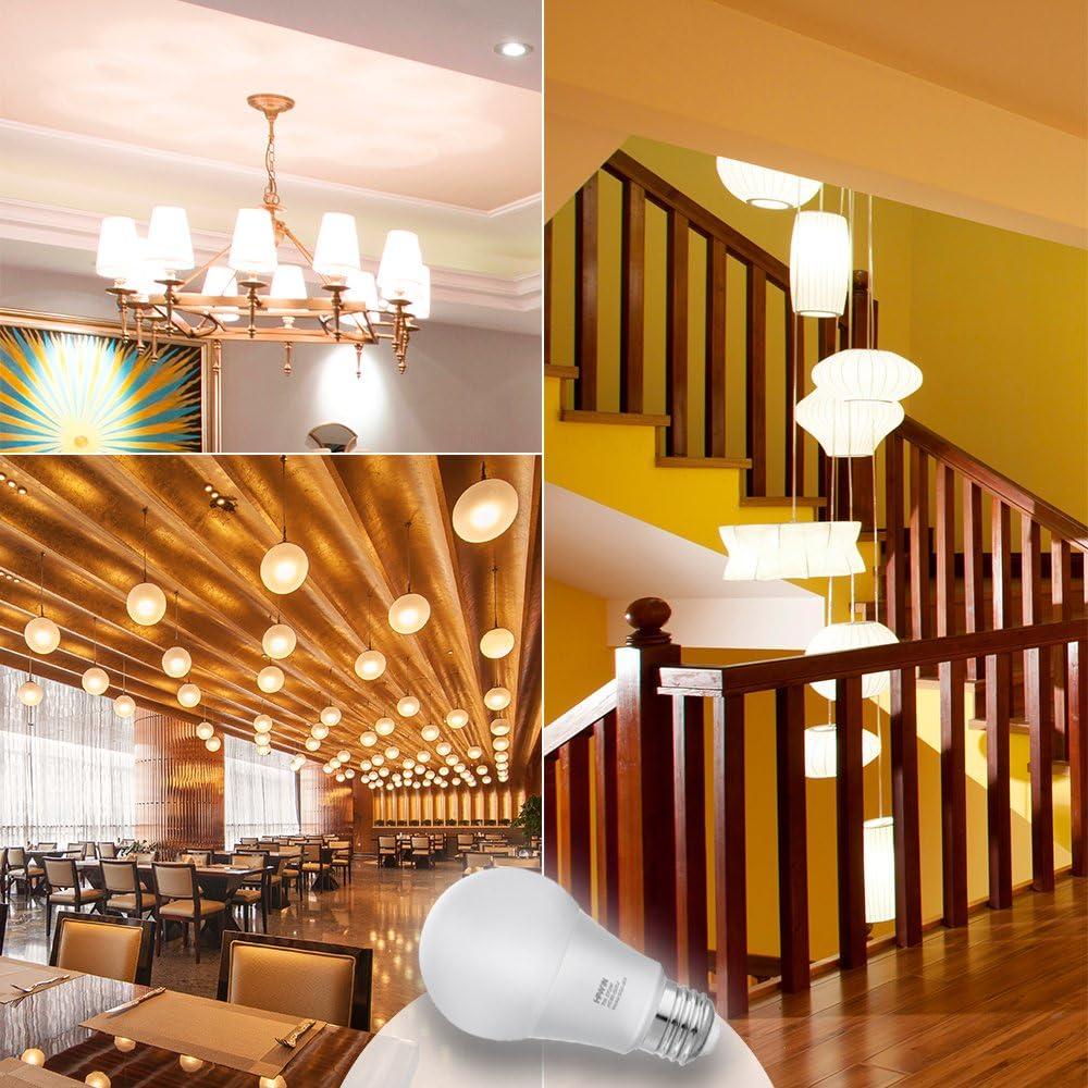 Dusk to Dawn LED Light Bulbs Sensor Light Bulb 7W Smart Light Lamp E26//E27 Auto On//Off,Indoor//Outdoor for Porch Garage Garden Hallway Warm White 2700K,2 Pack