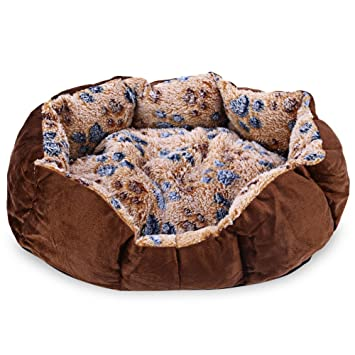Najer Pie suave y lavable para mascota, perro, gato, cama nido con cojín extraíble: Amazon.es: Productos para mascotas