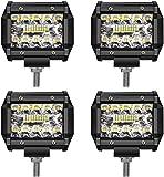 LED Light Bar TURBO SII LED Pods 4 Inch 60W Off Road Driving Lights Triple Row Spot Flood Beam LED Fog Lights Led Work…