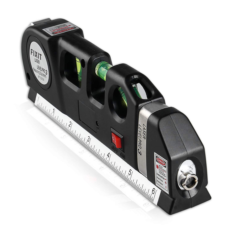 Wasserwaage, Semlos Laser Wasserwaage 3 in1 Richtwaagen 8 ft/250 cm Maßband mit 3 Blasen Horizontale Vertikale 45° Digitale Mehrzweck-Wasserwaage für Aufhängen von Bildern