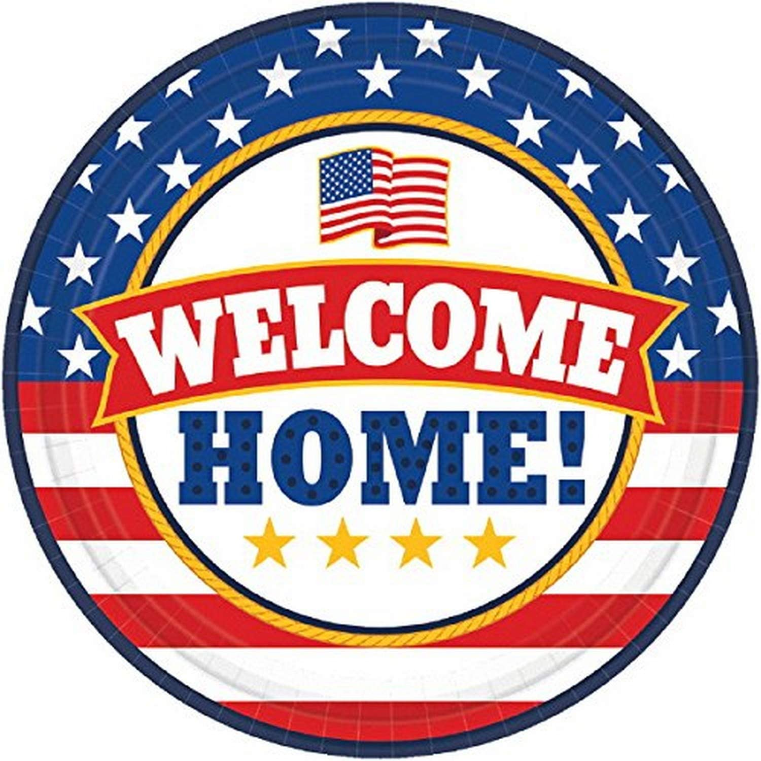 "Amscan""Welcome Home"" Party Plates, 7"", 18 Ct."
