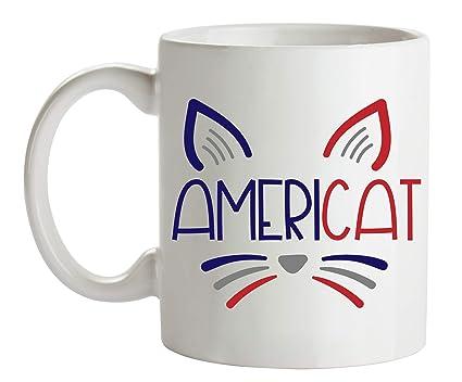 Amazoncom 4th Of July Coffee Mugs Cat Lover Mug