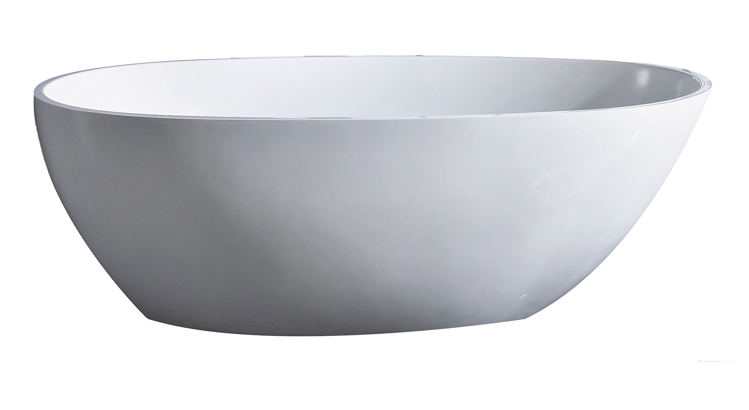Eviva EVTB6218-60WH Sarah Free Standing 60'' Acrylic Bathtub, White by Eviva
