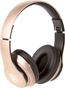 iJoy Matte Rechargeable Wireless Bluetooth Foldable Over Ear Headphones with Mic (RGD)