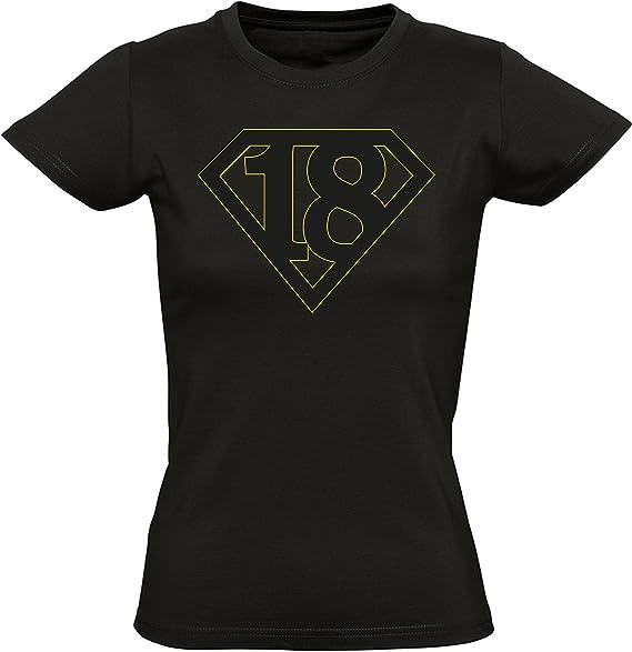 Super 18 - Regalo de cumpleaños para Mujeres - Año 2002 - Dieciocho - Decimoctavo - Mayoría Camiseta Divertida - Fun-Shirt - Humor - Birthday