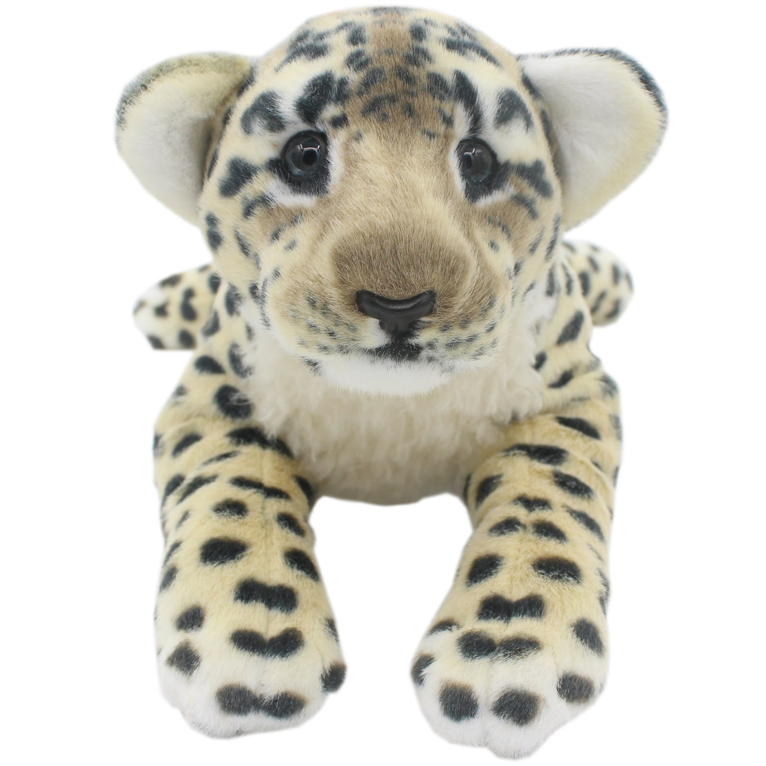 TAGLN The Jungle Animals Stuffed Plush Toys Tiger Leopard Panther Lioness Pillows Brown Tiger, 24 Inch