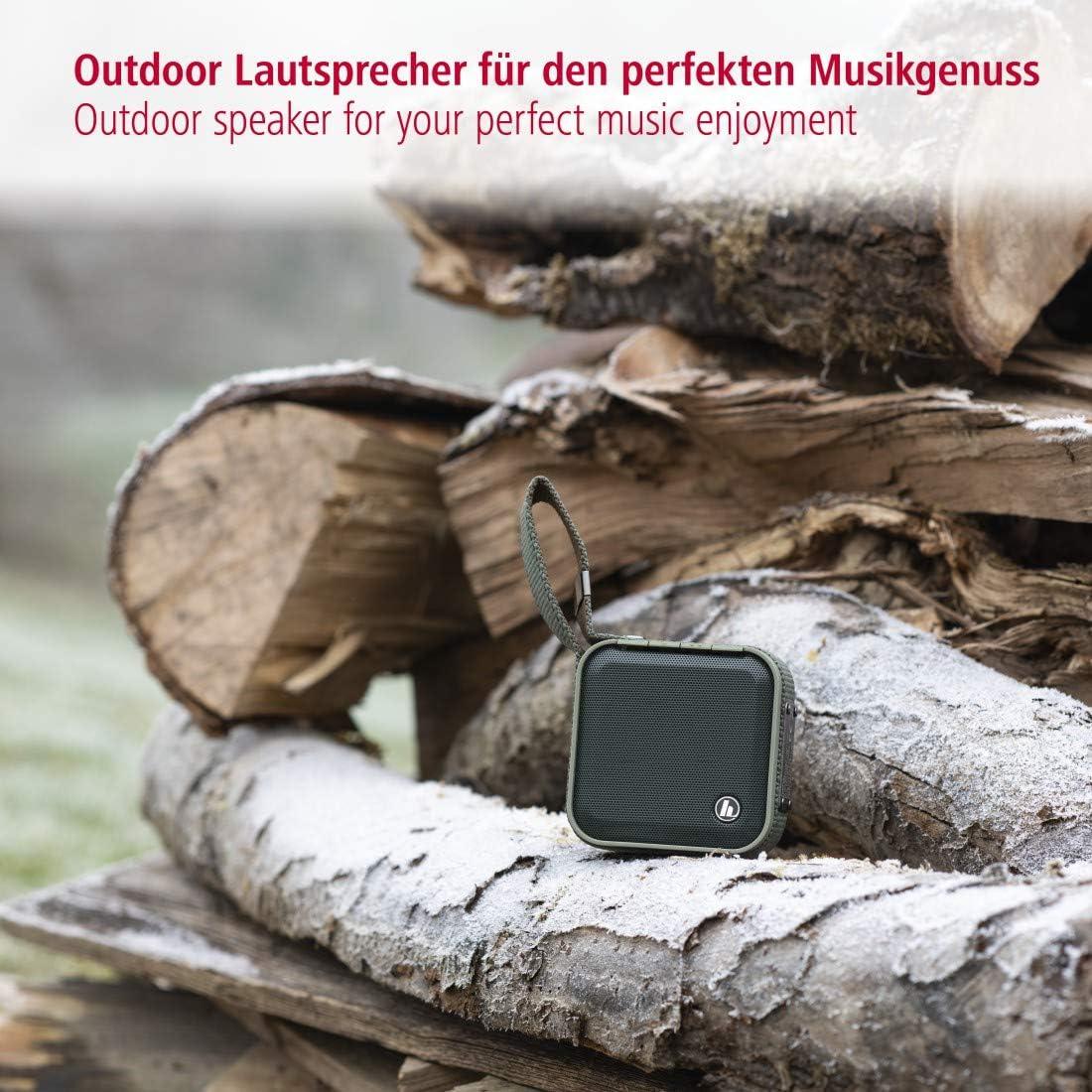 port/é bluetooth de 10 m/ètres, 3h de charge pour 14h dautonomie, 3.7 V, IPX7, batterie Lithium-Ion Vert Olive Hama Enceinte Bluetooth/® mobile Soldier-S