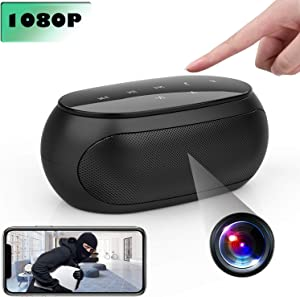 [New Version] Spy Camera Wireless Hidden ZXWDDP WiFi HD 1080P Bluetooth Speaker Camera Mini Nanny CAM with Motion Detection Suitable for Home/Office