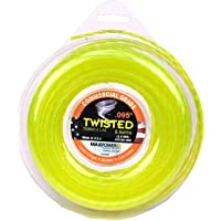 Maxpower 338808 Premium Twisted Trimmer Line .095-Inch Twisted Trimmer Line 100-Foot Length, Yellow