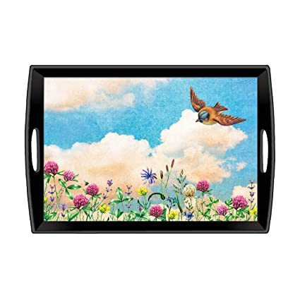Michel Design Works Large Decoupage Wooden Tray, Cloud Nine