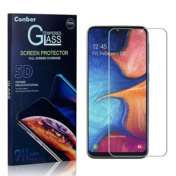 Screen Protector for Samsung Galaxy A8 2018 Conber Case Friendly Shatterproof 2 Pack Tempered Glass Film Screen Protector for Samsung Galaxy A8 2018 Scratch-Resistant