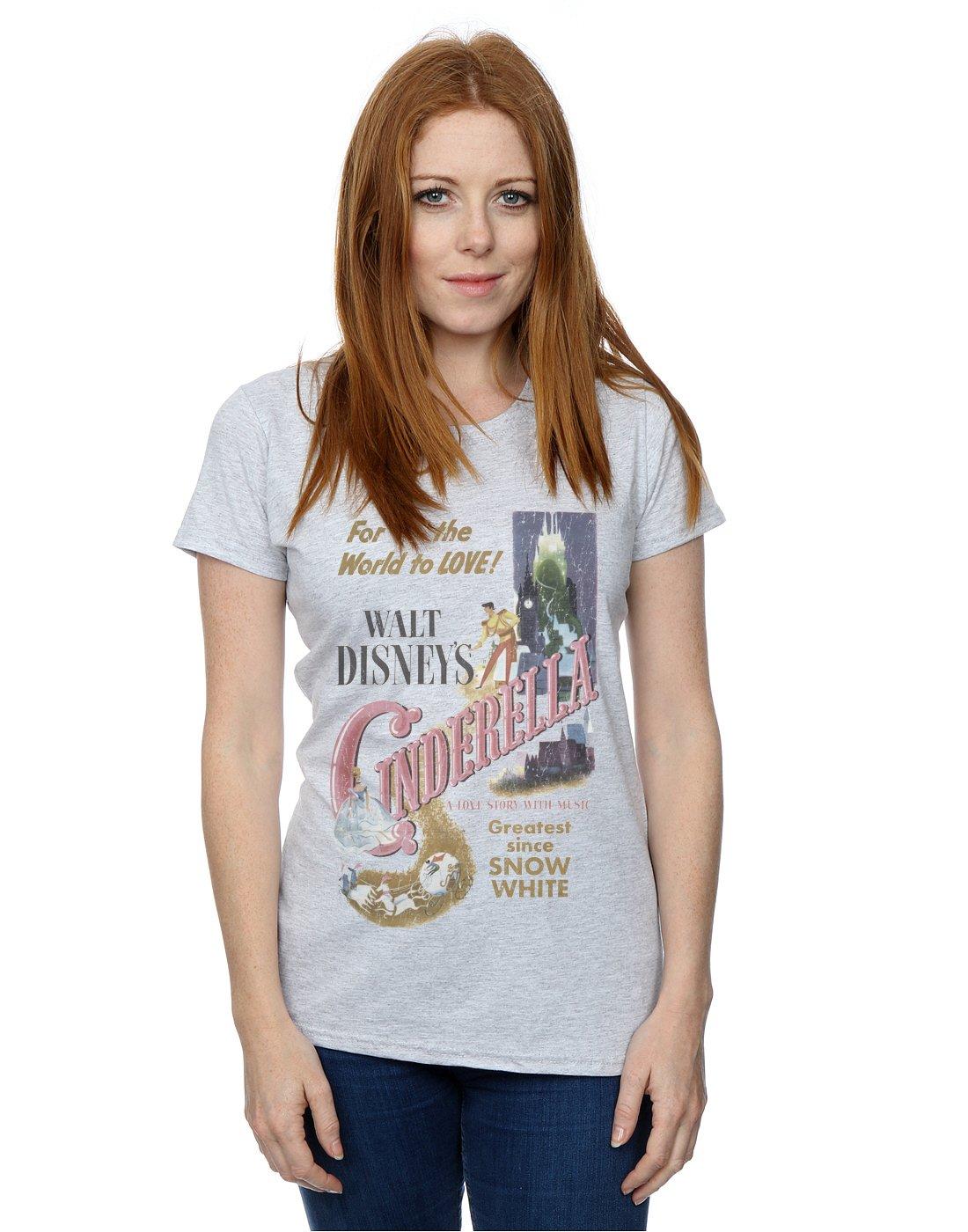 Disney mujer Cinderella Retro Poster Camiseta: Amazon.es: Ropa y accesorios