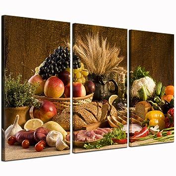 Amazon.com: Live Art Decor - Food Canvas Wall Art Good Harvest Wheat ...