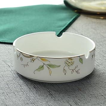 Wangs Creativo Hueso palillo Caja cerámica Toothpick ceniceros cerámica Cenicero cubertería-B: Amazon.es: Hogar