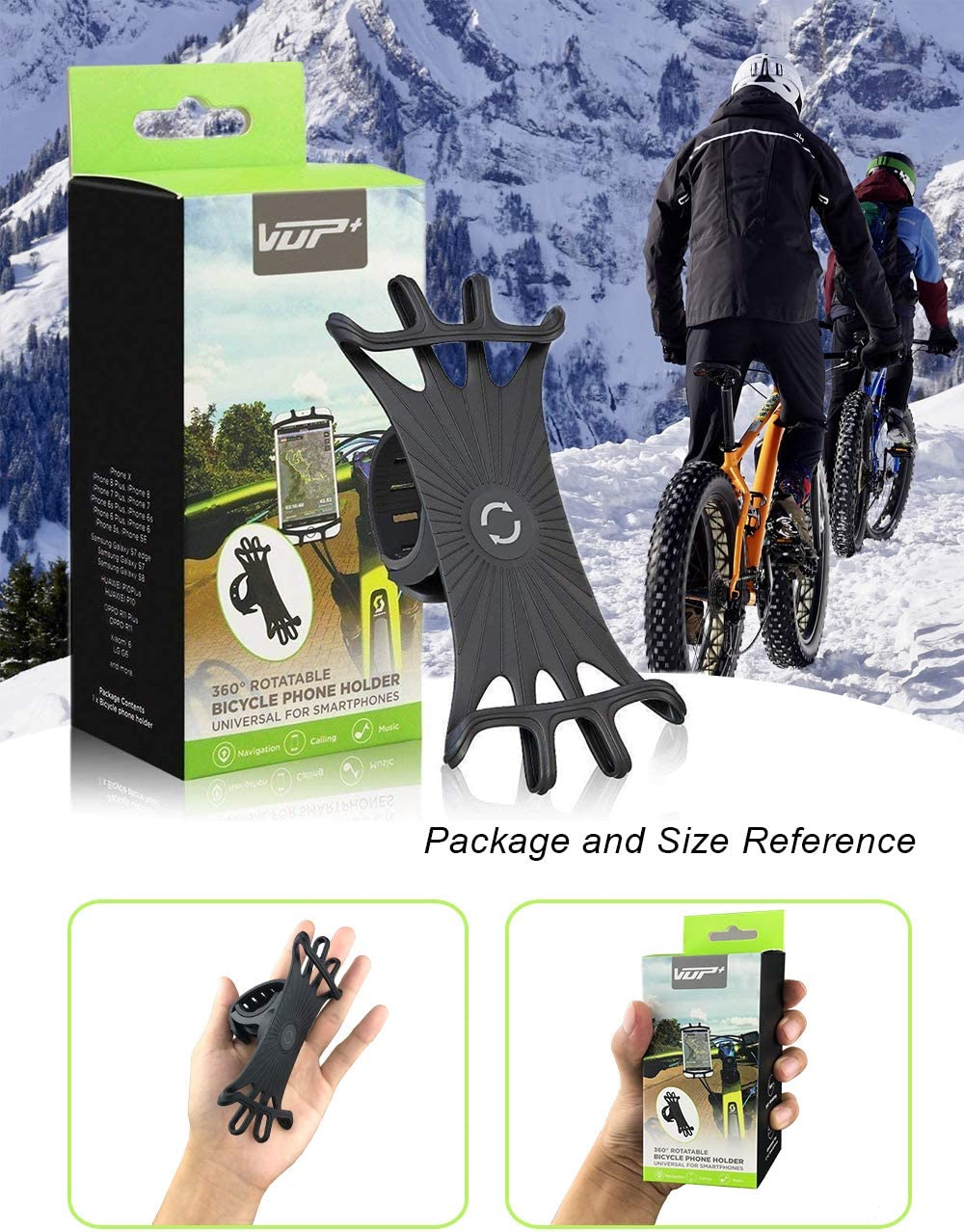 Shopping Cart Phone Holder Compatible with iPhone Samsung and Other Smartphones with Screen Size from 4 inch to 5.8 inch. YAPITO Motorcycle Phone Mount-Bike Phone Holder