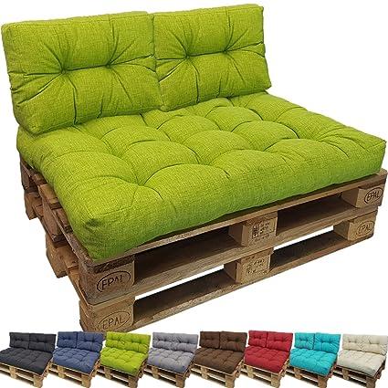 PROHEIM Cojines Palés Tino Lounge, Cojines De Asiento O Respaldo para Sofás Palets - Repelentes A Las Manchas (No Es Un Set), Color:Verde Manzana, ...