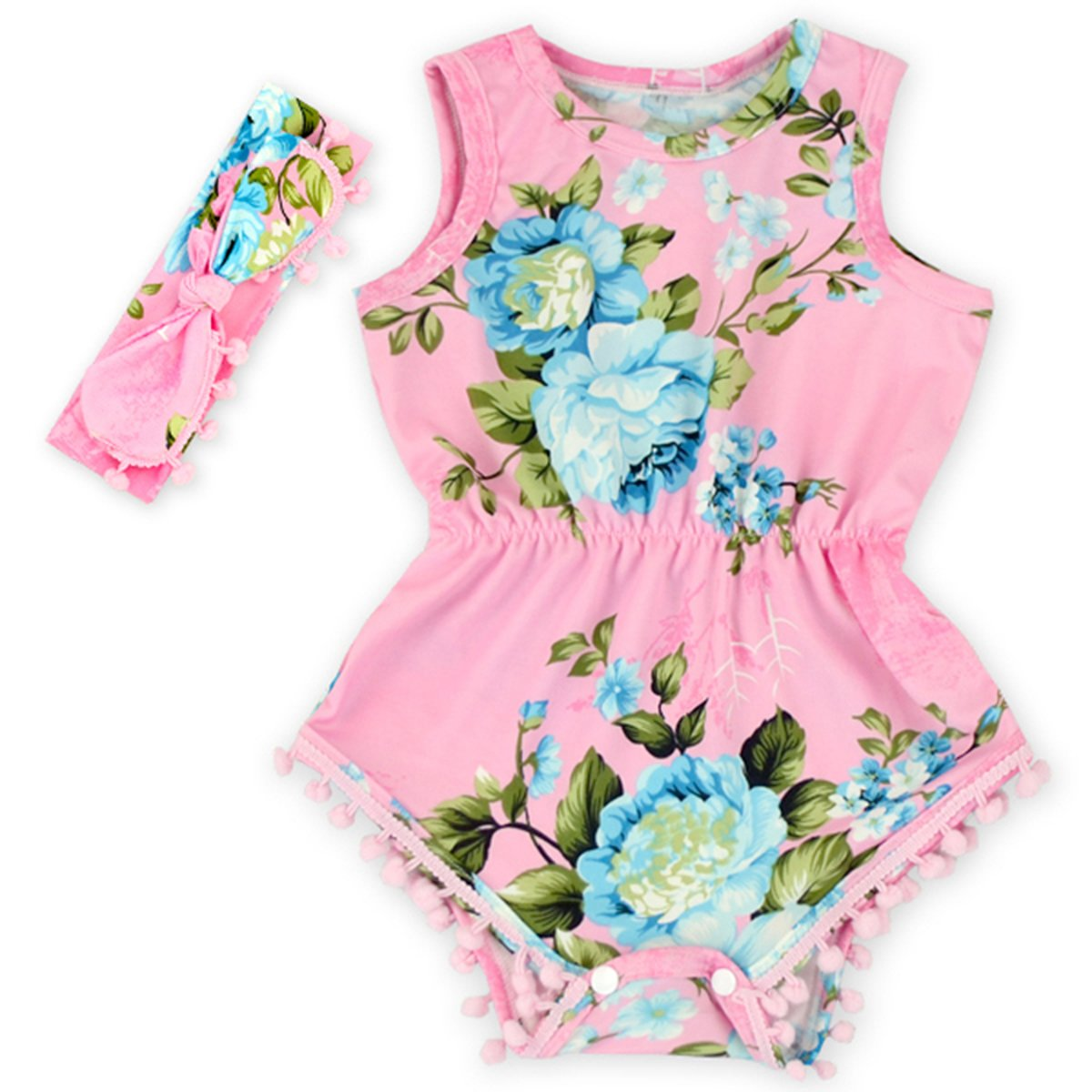 Anbaby Baby Girls Cute Romper Bodysuit Clothes Anbaby43