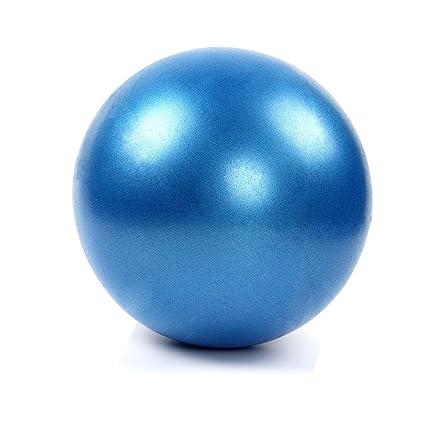 Latinaric 25 cm Mini Bola de Yoga Pilates Gimnasio Soft Pelota de PVC para Core Fitness Ejercicio Masaje con Paja