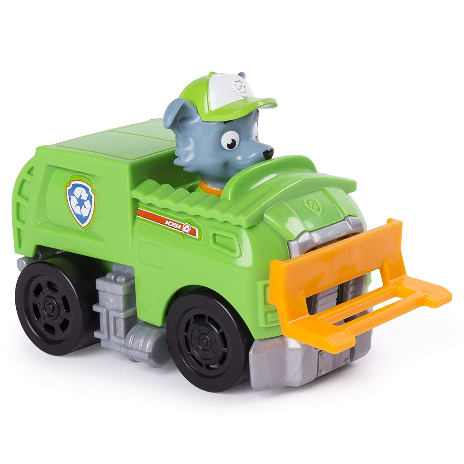 Nickelodeon PAW Patrol for Ages 3 and Up Rocky/'s Rescue Racer Recycling Truck with Moving Lift
