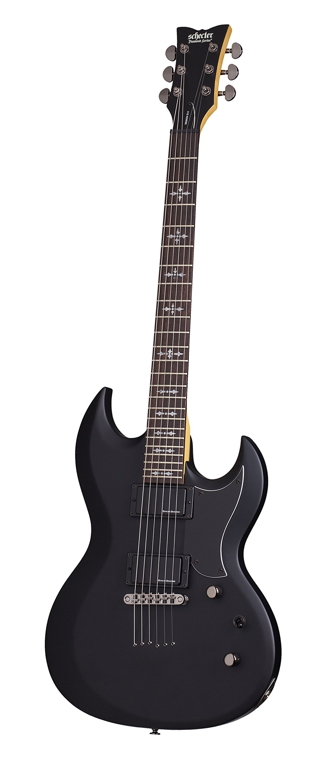 Schecter Demon S-II Solid-Body Electric Guitar, SBK by Schecter