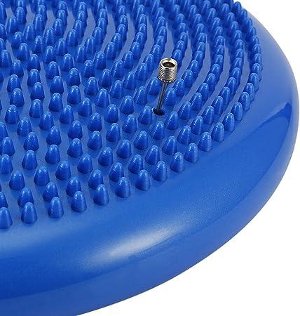 Tini Regner Extra Spesso Cuscino oscillante con Pompa Durevole Gonfiabile Yoga Wobble stabilit/à Equilibrio Disco Cuscino massaggiante mat-33/cm