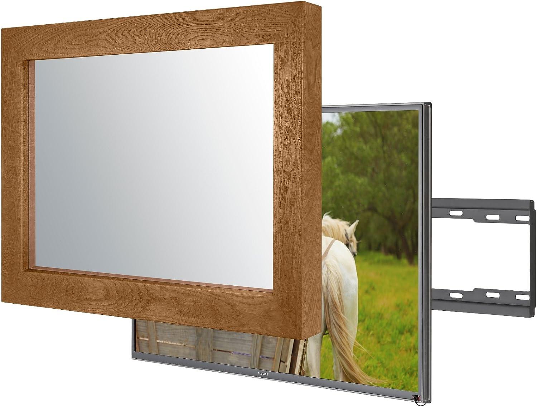 Espejo de pared hecho a mano con Samsung UE40MU6400 para integrar este televisor oculto en tu hogar o en tu negocio (40 pulgadas, color marrón plano): Amazon.es: Electrónica