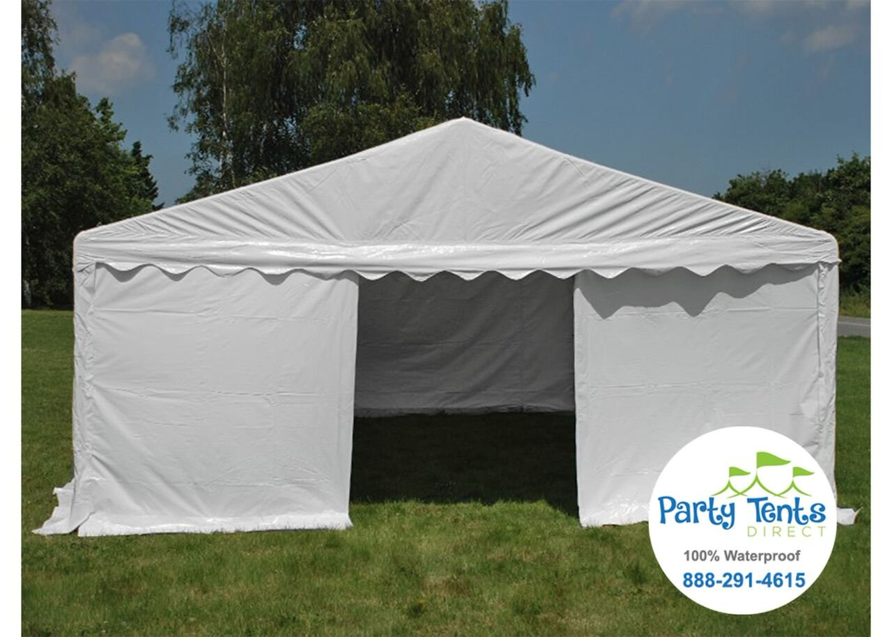 Amazon.com 20-Foot by 20-Foot White PE Party Tent Pop Up Easy to Assemble Canopy Shelter for Parties Weddings and Events Sports u0026 Outdoors & Amazon.com: 20-Foot by 20-Foot White PE Party Tent Pop Up Easy to ...
