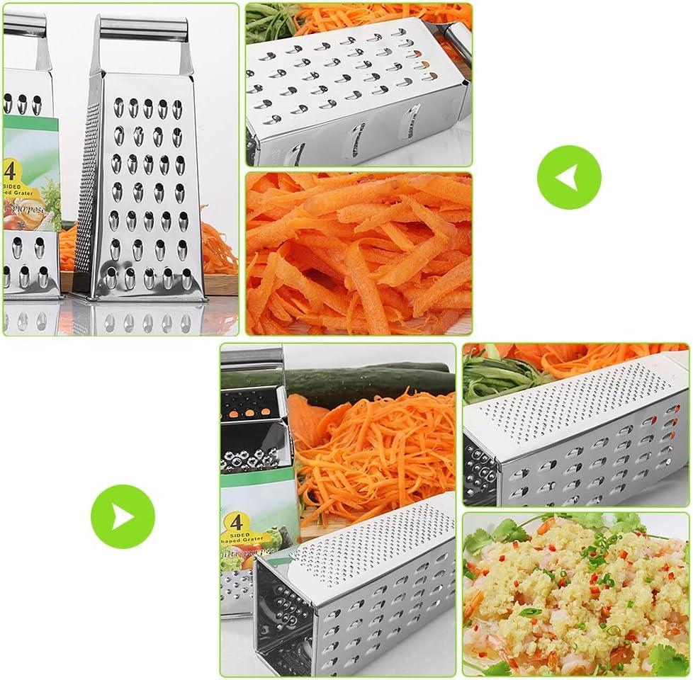 l/égumes Kikier Box R/âpe /à 4 c/ôt/és en acier inoxydable pour fromage parmesan gingembre