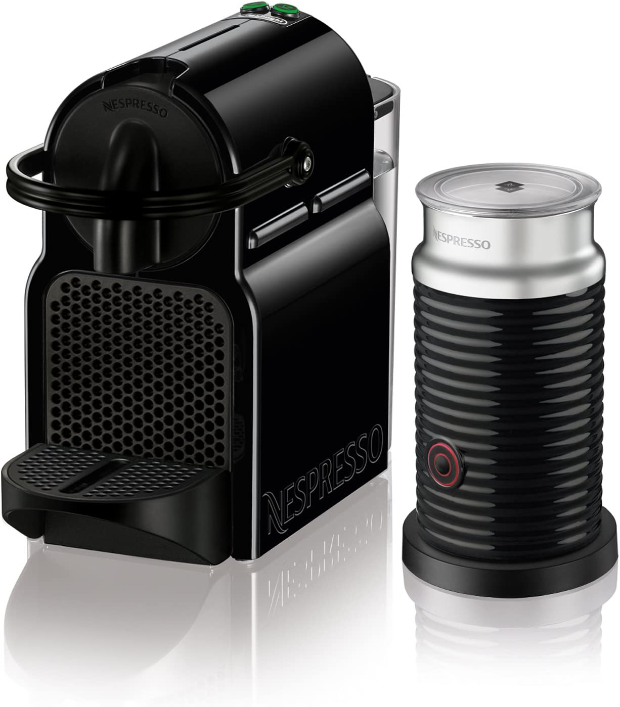 Nespresso Inissia Original Espresso Machine with Aeroccino Milk Frother - capsule machine Amazon