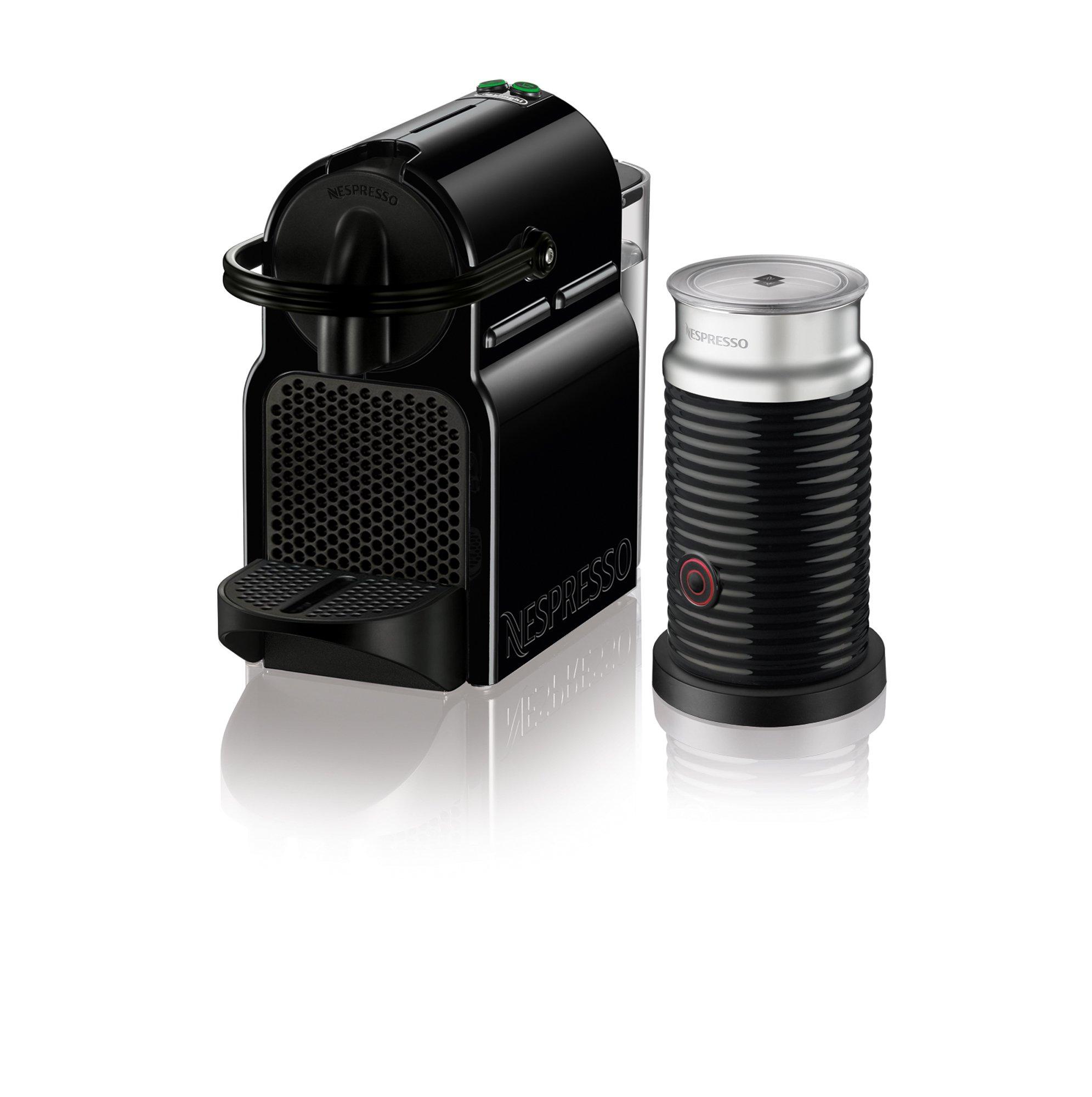 Nespresso Inissia Espresso Machine by De'Longhi with Aeroccino, Black